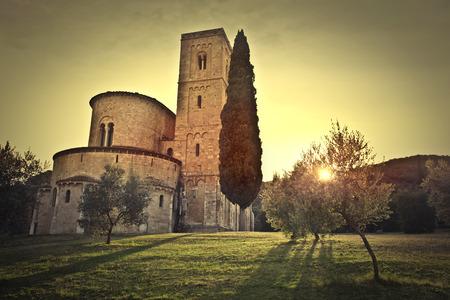 abbazia: Quiet in Montalcino Stock Photo