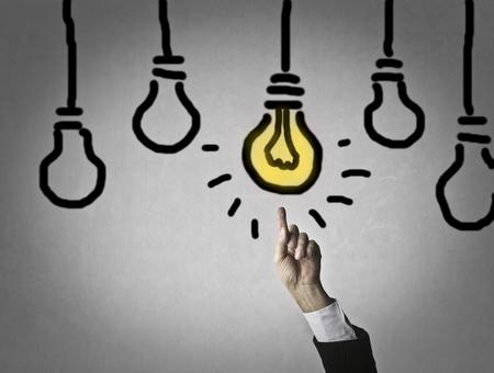 enlightened: Enlightened idea Stock Photo