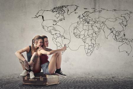 Traveling around the world photo