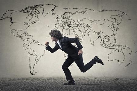 Running businessman photo