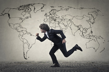 running businessman: Running businessman Stock Photo