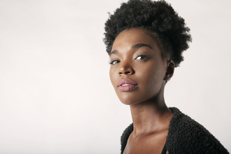 Black female model