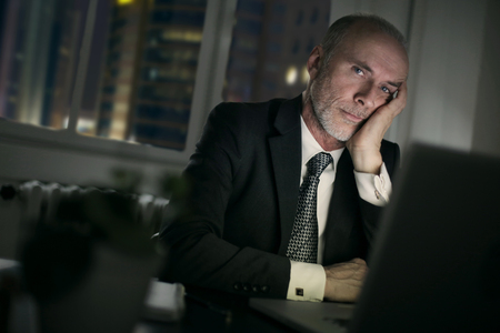 solution: Working late at night Stock Photo