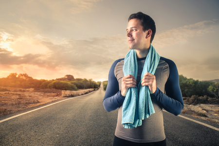 copyspace: In training clothes Stock Photo