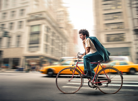 fas: Riding a bike in the city