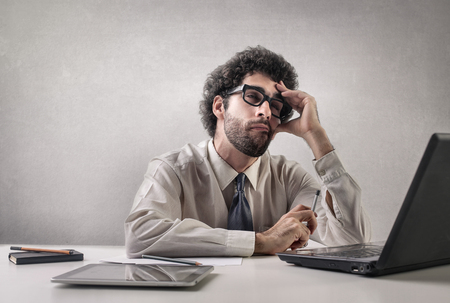 Working all day long Stock Photo