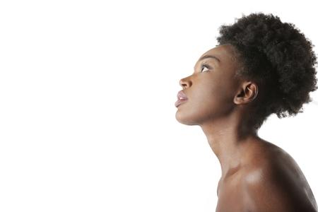 Nacktes schwarzes Mädchen Standard-Bild - 75387733