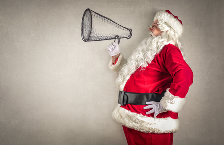christmas gifts: Santa Claus with a megaphone