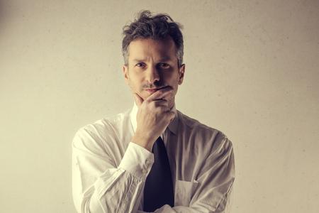 Businessman is thinking photo