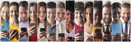 Everybody is addicted to Their phones Stock Photo