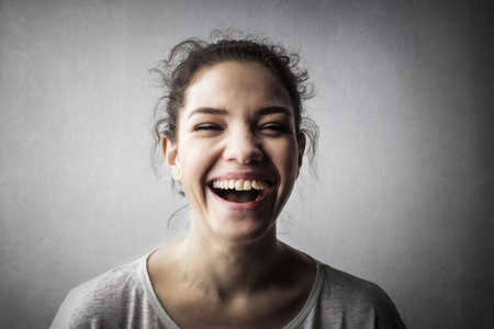 Young lady is laughing