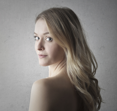 nude blonde girl: Naked, blond woman