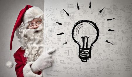 Santa Claus and the bulb