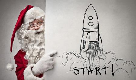 Santa Claus and the spaceship