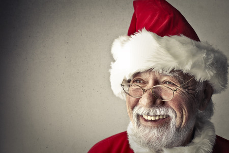 dark: Santa Claus is smiling