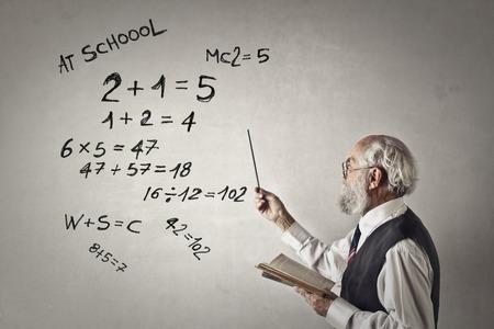 数学の先生は説明しています。 写真素材