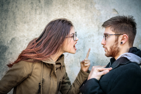 problem: Young couple is fighting
