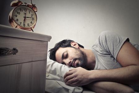 awake: The man with the beard is sleeping