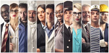 Doce de doce personas diferentes profesiones diferentes Foto de archivo - 73560951