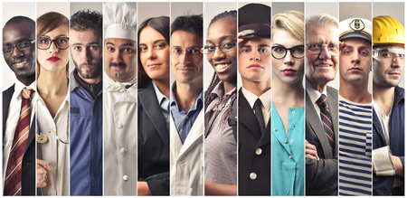 Twelve twelve different people different professions Reklamní fotografie - 73560951