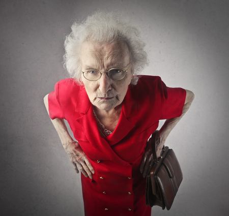 Old lady is being nasty