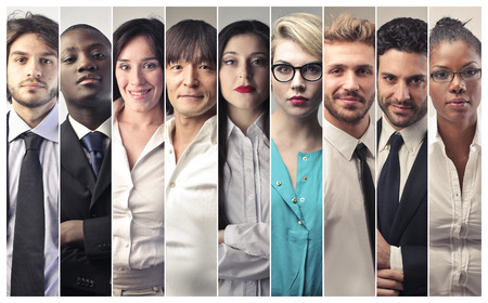 Business people from all around the world Stock Photo
