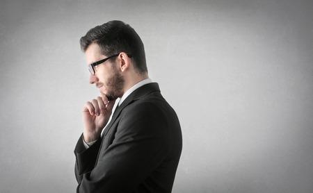 copyspace: Businessman is thinking