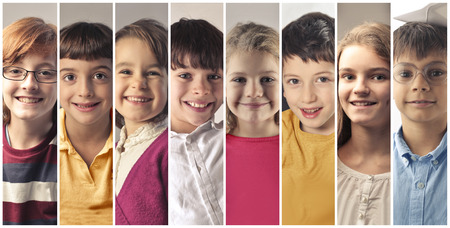 Honest hapiness on the faces of the youth Stockfoto