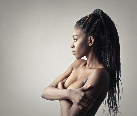 beautiful naked woman: Beautiful african woman naked Stock Photo