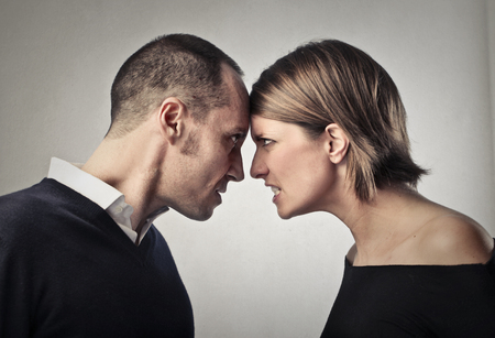 Man and woman are fighting