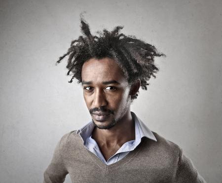 Serious black man Reklamní fotografie