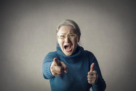 angry old lady Reklamní fotografie
