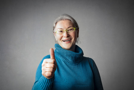 Old lady says hi