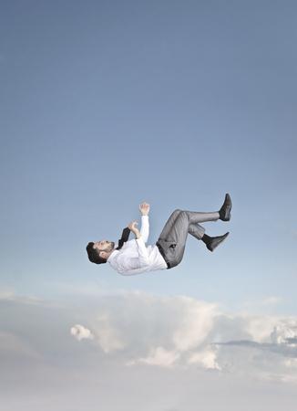 Businessman is falling Stok Fotoğraf