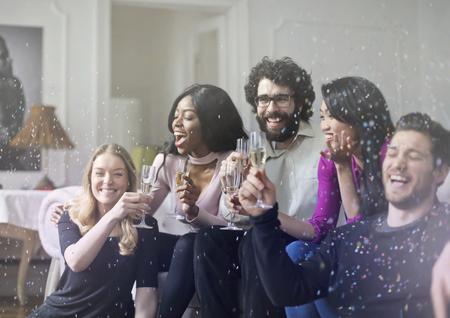 Feiern des neuen Jahres Lizenzfreie Bilder