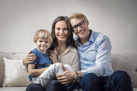 Glückliche Familie zusammen