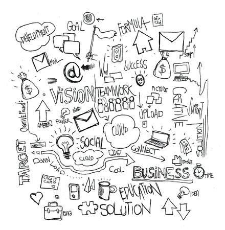 黒と白の図面ビジネス
