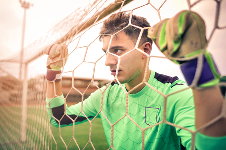 football player in the net