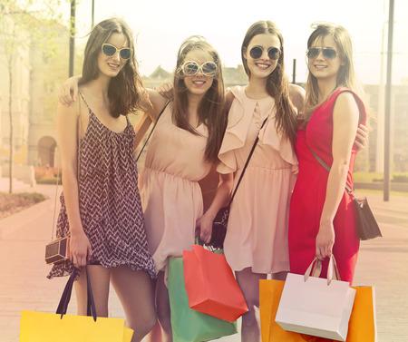 Pretty girls are shopping photo