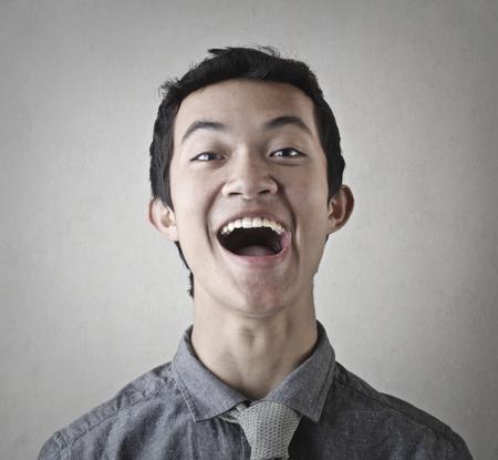 Feliz hombre chino Foto de archivo - 81241234