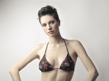 Attractive woman in a bikini photo