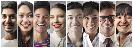 Different but people happy Banco de Imagens