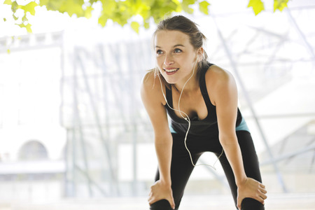 healthy body: Sportive young woman Stock Photo