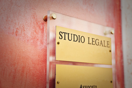 The entrance of the studio legale