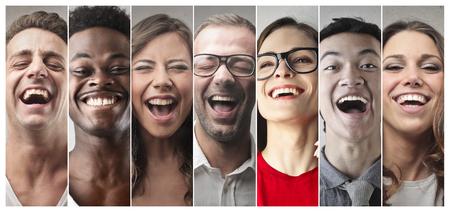 別の起源を持つ幸せな人々