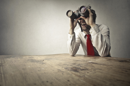 Man is Spying on the neighbors Zdjęcie Seryjne