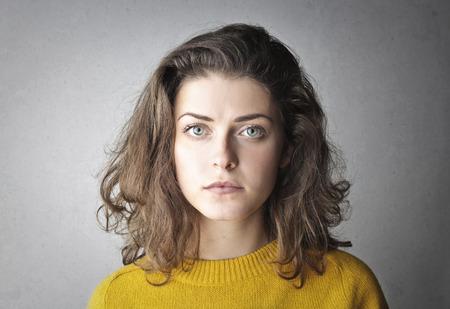Portrait of a caucasian girl Standard-Bild