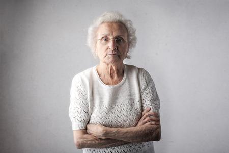 Portrait of an aged woman Фото со стока