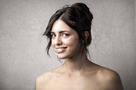 Portrait of a smiling woman Standard-Bild