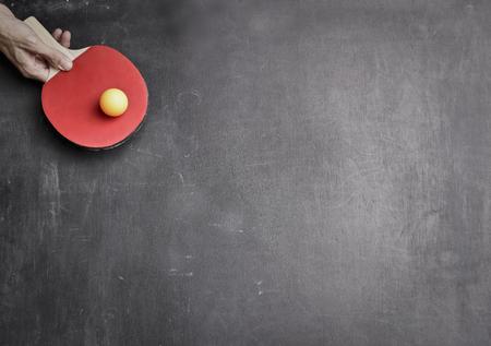 Playing ping pong game